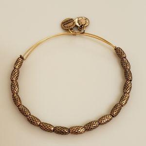 NEW Alex and Ani Gold Beaded Bangle Bracelet